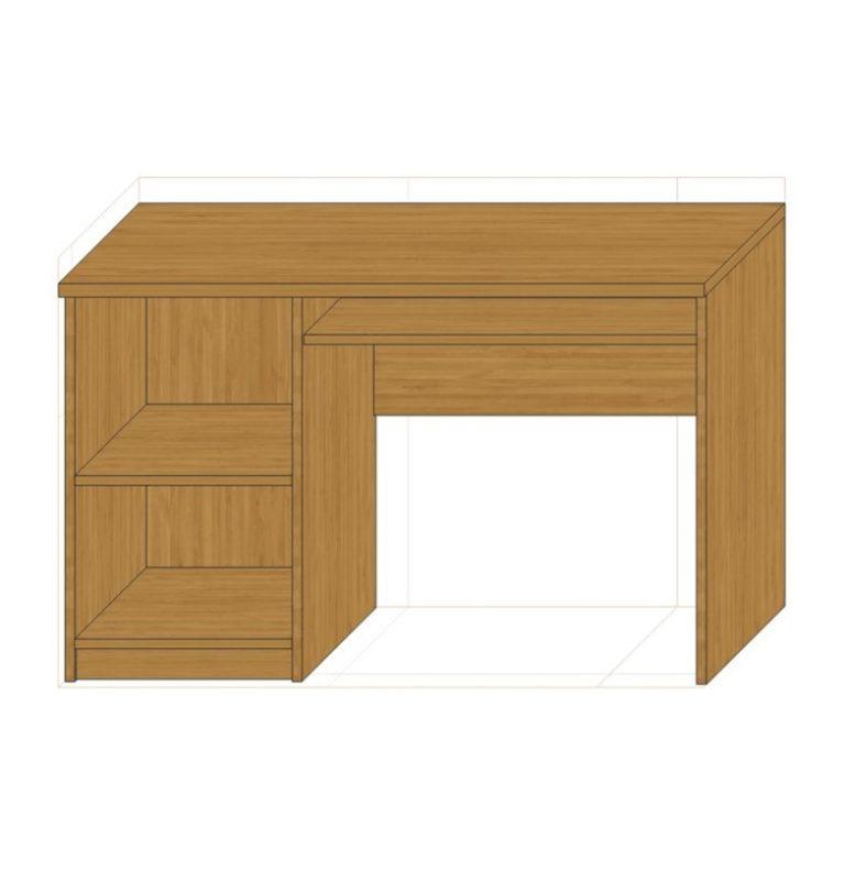 Biurko z półkami