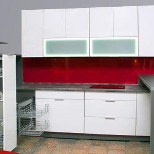 Kuchnia nowoczesna biały/czerwony