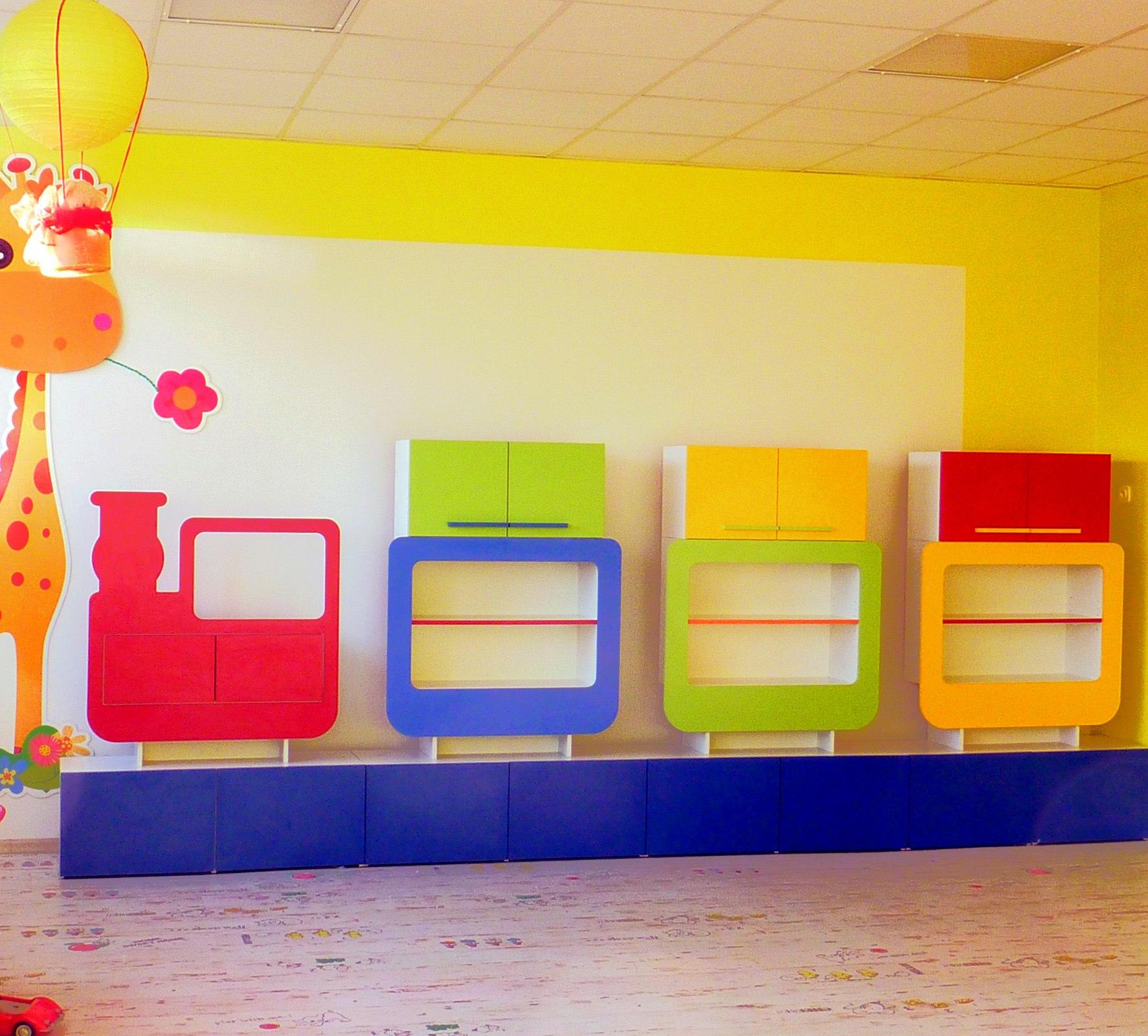 Zabudowa dziecięca w przedszkolu